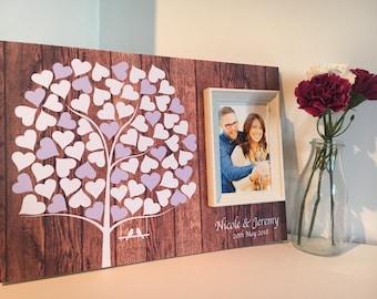 Wedding guestbook- wedding guestbook customised-wedding signature board
