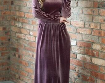 Swank, elegant dress, velvet dress. Элегантное бархатное платье