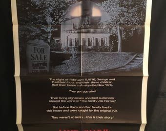 Original 1982 Amityville 2 The Possession One Sheet Movie Poster, Horror, James Olson, Haunted House