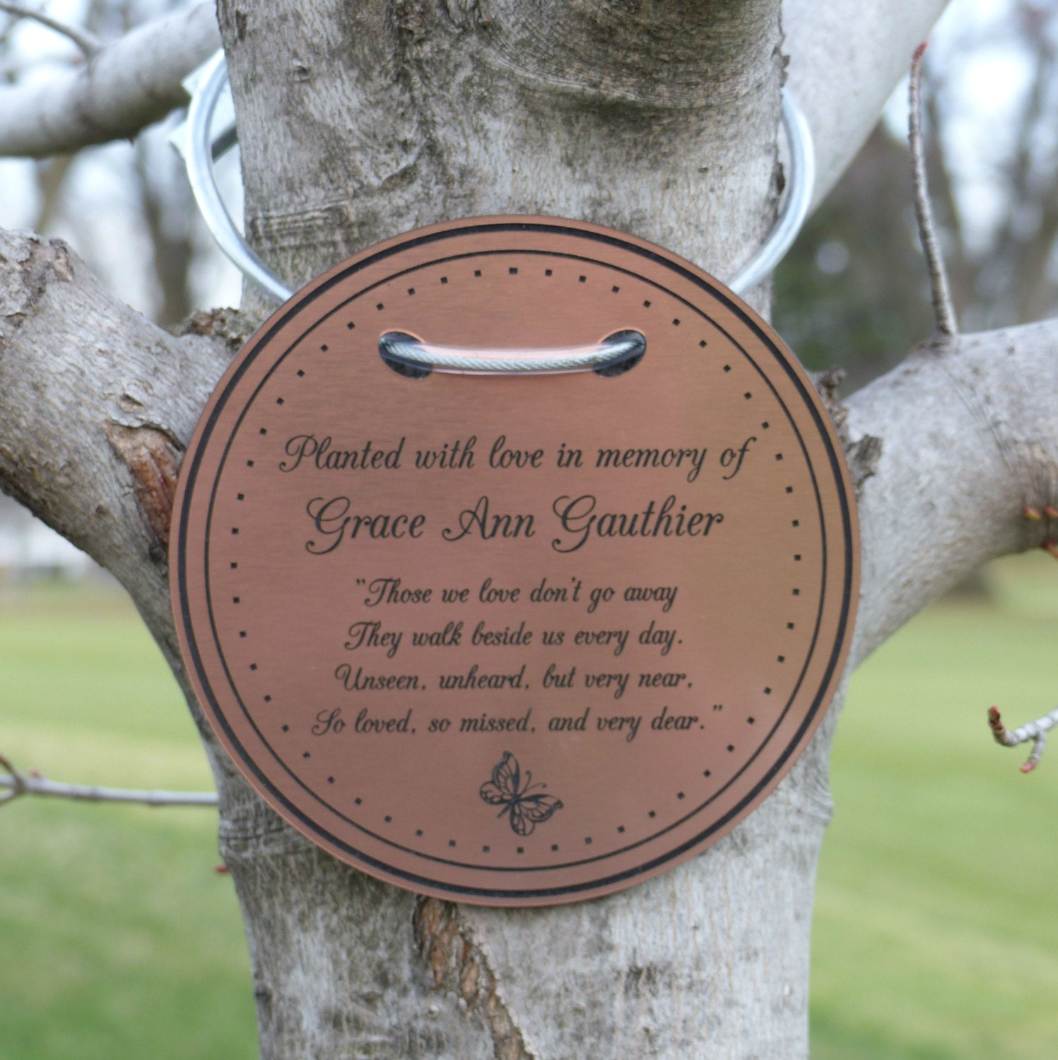Perfect Tree Charm™ tree dedication marker tree plaque tree tag TT36