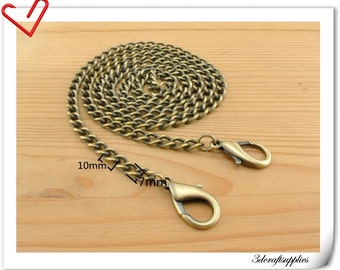 Purse chain , metal purse chain, metal purse chain , Anti brass metal chain 108cm K91