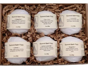 Aromatherapy Bath Fizzies - Sample Assortment