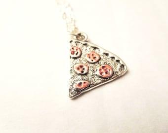 Pizza necklace- pizza ring-Pizza Slice ring, Pizza Slice necklace