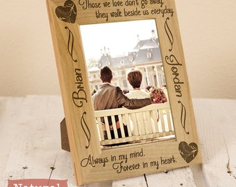 Sympathy Gift - In memory of gift - Personalized sympathy gift - In memory of sympathy gift - Personalized engraved frame