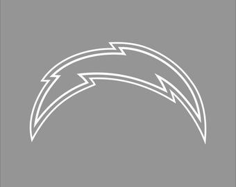 San Diego Chargers White Vinyl Decal