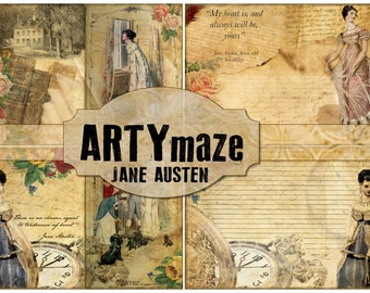 JANE AUSTEN Digital JOURNAL kit *instant download