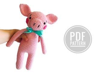 Crochet pattern  - pig - amigurumi - kawaii - kimimals