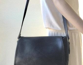 Black Leather Saddle Bag, Purse, Bag, Shoulder Bag