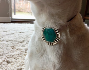 Sterling silver pendant with Chrysocolla setting