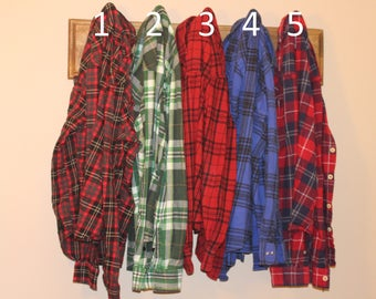 Vintage Flannel Shirts, Size Medium
