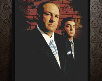 THE SOPRANOS - portrait - alternative movie poster print minimalist pop art draw paint Tony Soprano James Gandolfini tv series crime
