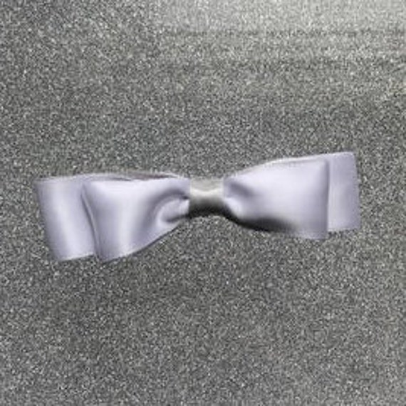 White Satin Double Bow