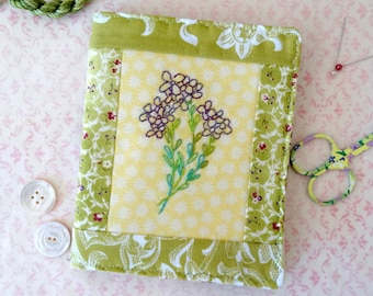 Bouquet of Violets Needlecase Hand Embroidery PDF Pattern Instant Download