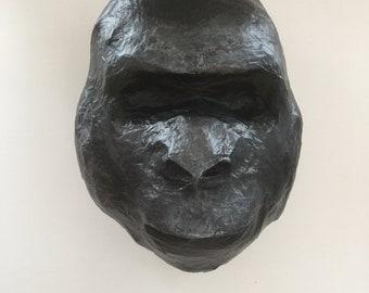 Gorilla - paper mache Animal Head large