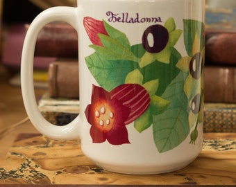 Witchy Belladonna Coffee Mug - Wiccan Gifts For Kitchen Witches