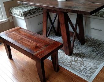 Farmhouse Bench, Rustic Bench, Breadboards, 36x17x14, Entryway Bench, Hall Bench, Dining, Foyer Bench