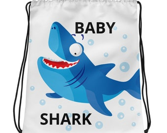 Baby Shark Drawstring bag