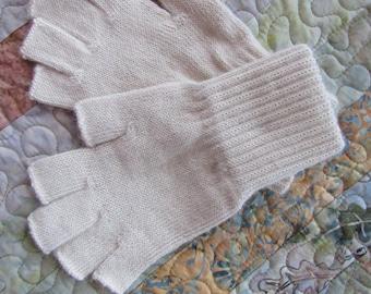 Alpaca Fingerless Gloves - Medium size