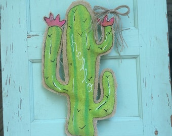 Cactus door hanger