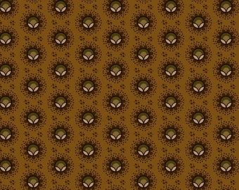 Yardage, Buttermilk Basin by Stacy West, Henry Glass Fabrics, Pumpkin Blossom in Gold, Traditional Quilt, Reproduction Fabric, Civil War