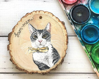Custom Cat Ornament - Custom Cat Portrait - Custom Pet Ornament - Cat Lady Gifts - New Cat Ornament - Cat Gifts - Cat Ornament Personalized