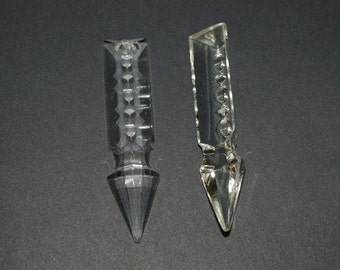 "Lot 6 Pieces Drop 3 ""pointy Toe 76x18 Chandelier Crystal DROPS To Spare Launches CRYSTAL LANCE Tip For Lamps Spare Tip"