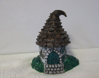 Hand Crafted Polymer Clay Secret Fairy House