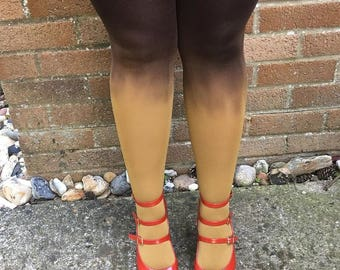 Kendall Amber Falls Ombre Tights - More Colours - Dip Dye - Gradient - Lingerie - Kawaii - Hosiery - Costume Women - Gift for Her