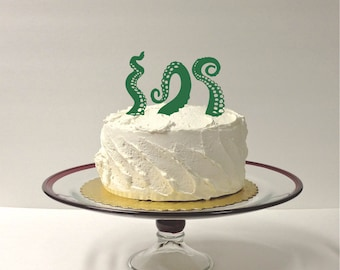 MADE In USA, Octopus Tentacles Wedding Cake Topper, Set of 3 Tentacles, At Sea Wedding Cake Topper, Pirate Wedding Cake Topper Nautical