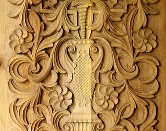 Wood carving traditional Bulgarian art, Rectangular panel 1, IN STOCK, ready for shipping, cottage chic, Mediterranean furniture