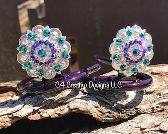 Swarovski Crystal, Flower, Conchos, Mothers Day, Birthday, Gift Ideas, Statement Jewelry, Western, Boot, Cowgirl, Unique, Cuff Keepers