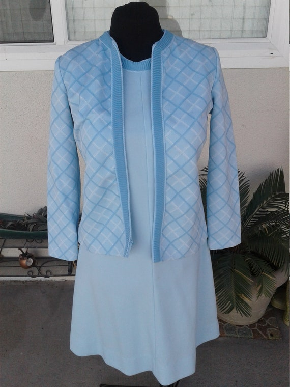 1960 S Bright Baby Blue Women S Dress Suit