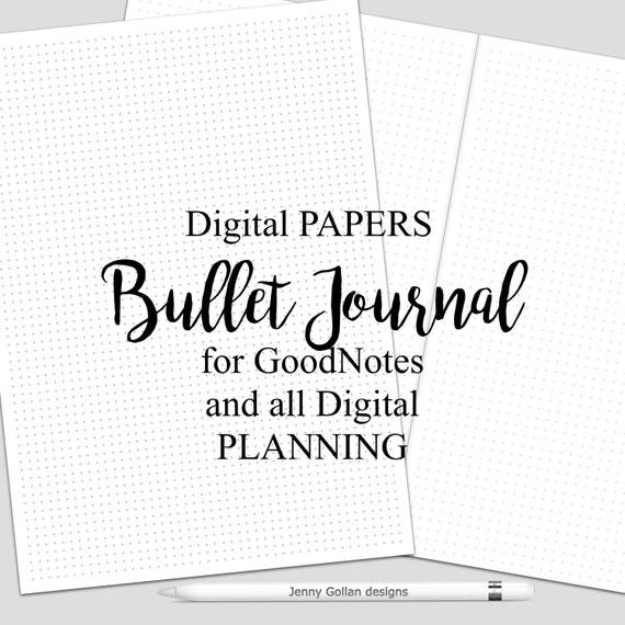 Digitale Kalender-Seiten für das iPad GoodNotes Bullet Journal