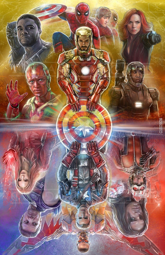 Captain America Civil War 24X36 High Quality Art Print