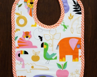 Modern Wild Animals Bib