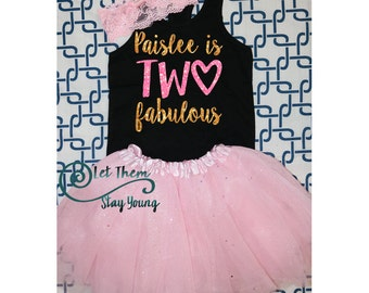 Two and Fabulous, Two Fabulous, 2 Years Old two and cute second Birthday Shirt 2nd Birthday Shirt 2nd Birthday Party second birthday outfit