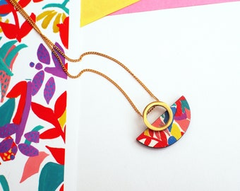 Statement necklace, unique jewelry, art deco, unique gifts, gifts for women, gifts for friends, fashion necklace, pendant necklace