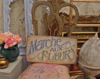 Paris Flower Market Sign 1:12 Scale Miniature Dollhouse Accessory