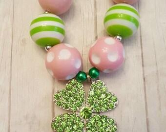 St. Patrick's Day clover Necklace