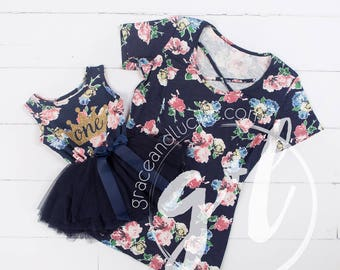 Mommy and Me Floral birthday outfit, first birthday outfit, mommy and me birthday outfit, floral birthday outfit