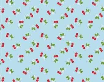 Riley Blake - Sew Cherry 2 - Sew 2 Cherry on Aqua by Lori Holt