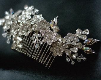 Hochzeit Strass Haar Kamm - Bridal Haircomb - Blooming Marvellous - kundenspezifisch konfektioniert-
