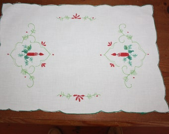 4 1970s Christmas Placemats