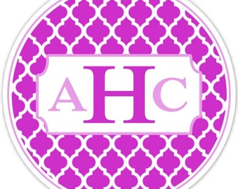 Custom Wedding Monogram Label, Quatre Foil with Monogram, Bridal Shower Labels, Personalized for YOU