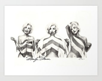 Limited Edition Marilyn Monroe, Print, Paint the Moment, XL