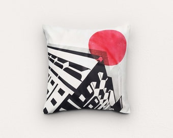 Peckham London Cushion Cover - 45 x 45 cm - London Home Decor - Soft furnishings - Abstract London Print - Throw Cushions- Housewarming gift