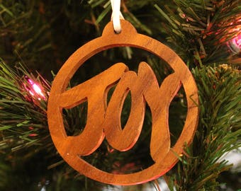 Ornament - Joy - Walnut