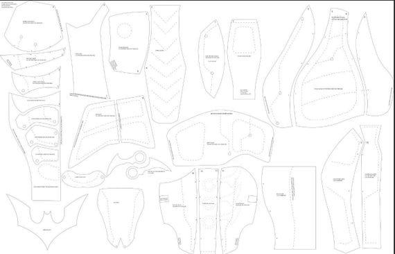paper knight helmet template - bat beyond cosplay foam templates from xiengprod on etsy