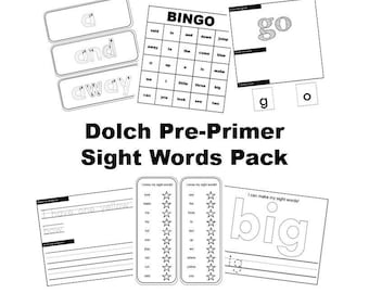 Dolch Pre-Primer Sight Words Pack