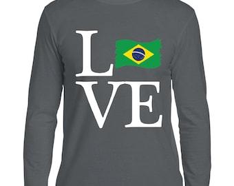 Love Brazil  Men Softstyle Long Sleeve T-Shirt